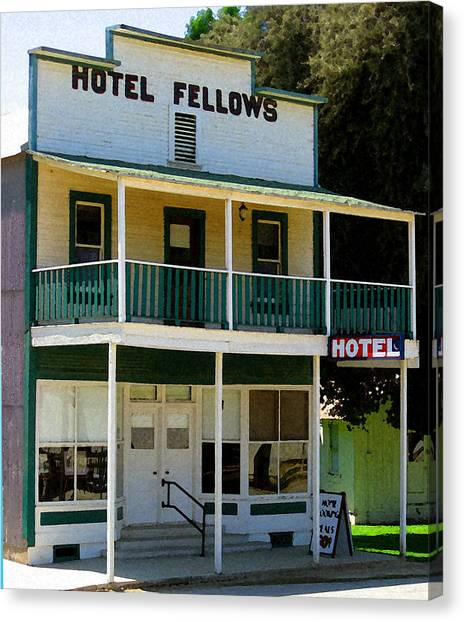 Hotel Fellows 2 Canvas Print