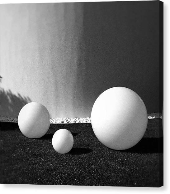Balloons Canvas Print - Hotel Pineta. Luci In Giardino by Massimiliano Fabrizi