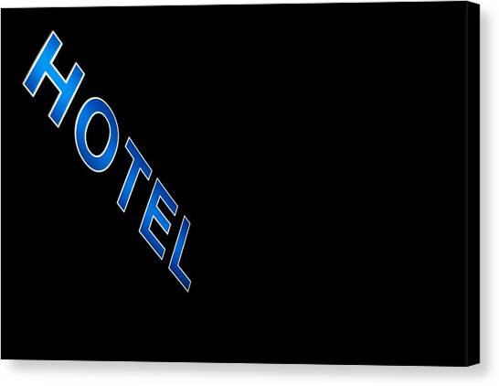 French Signs Canvas Print - Hotel by Stelios Kleanthous