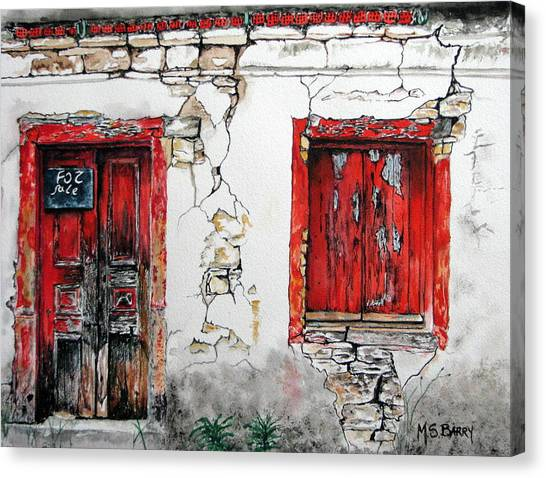 House For Sale Canvas Print