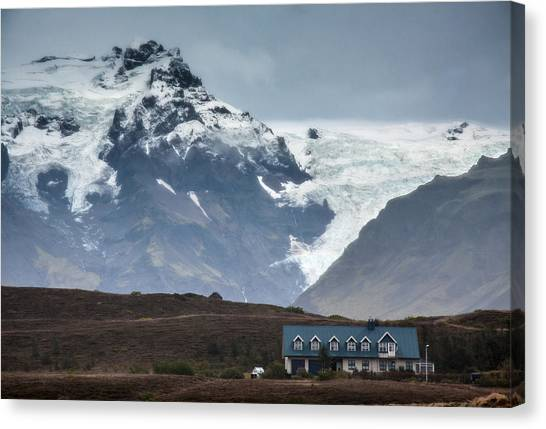 House Mountain And Glacier Canvas Print