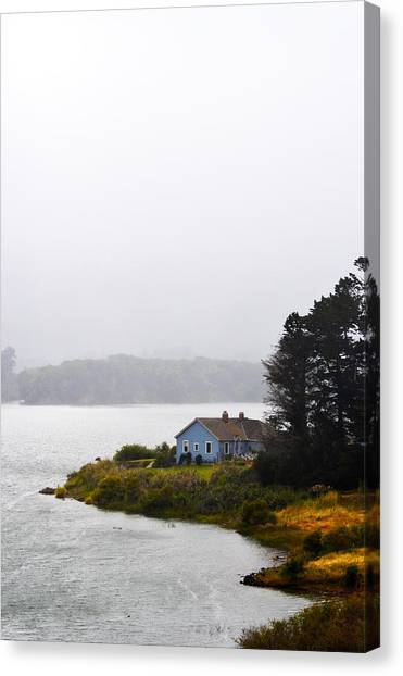 House On The Water - Vertical Canvas Print
