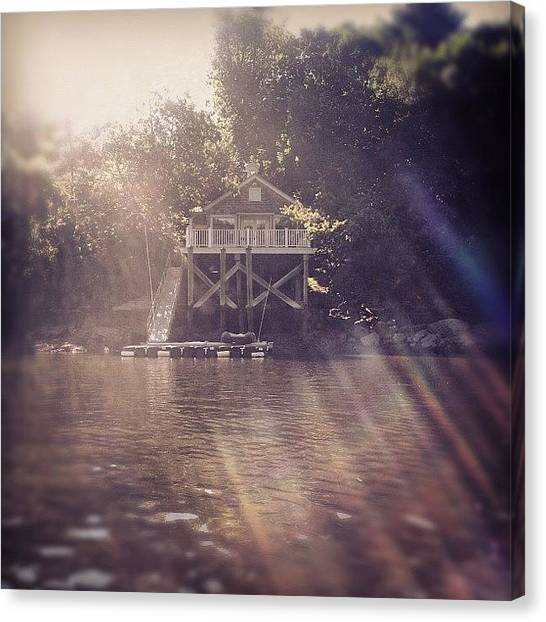 Swamps Canvas Print - #house #water #river #summer #boat by Doug Moran