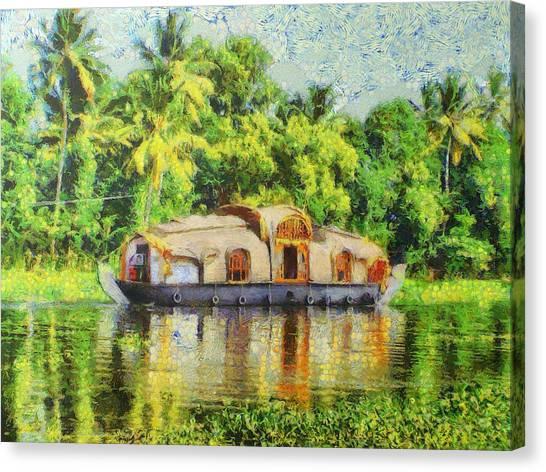 Houseboat Canvas Print