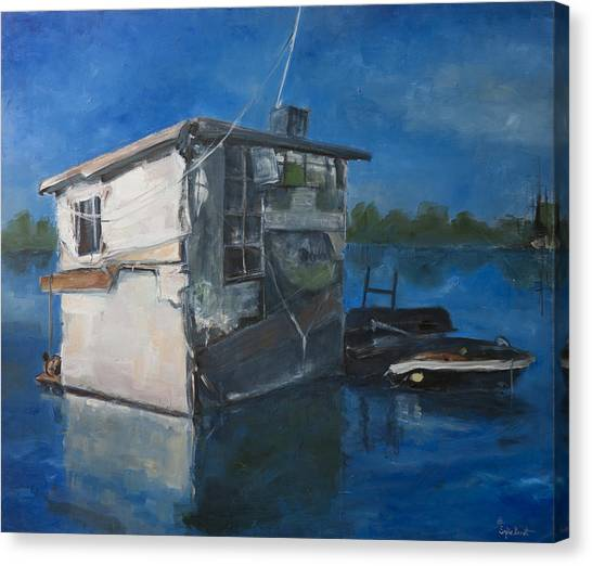 Houseboat Canvas Print by Sophie Brunet