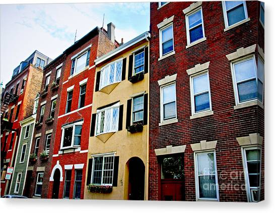 Brick House Canvas Print - Houses In Boston by Elena Elisseeva