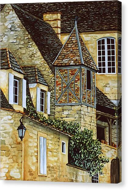 Houses In Sarlat Canvas Print