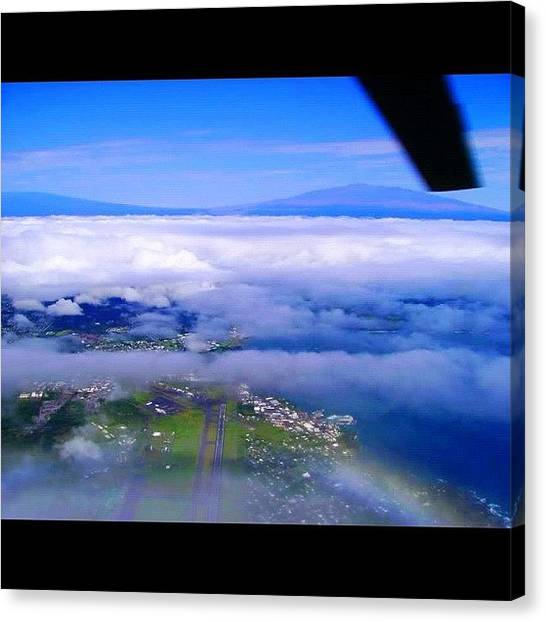 Helicopters Canvas Print - Hovering Over #ito #hilo #airport by Joel R