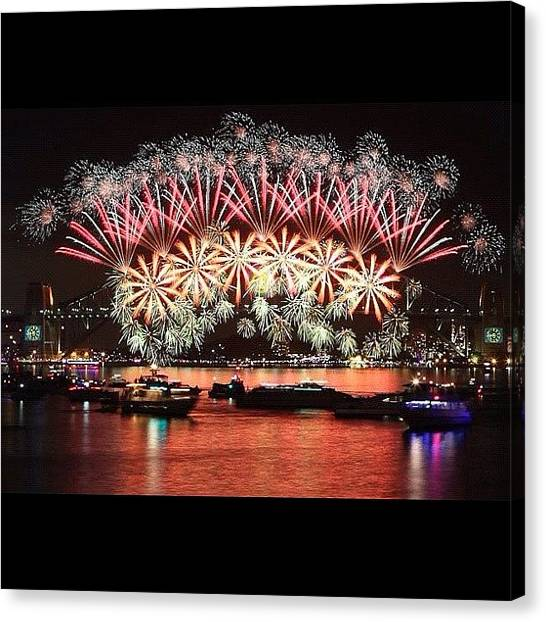 Fireworks Canvas Print - How Good Does This Look!!!!! Brilliant! by Shay Narsey