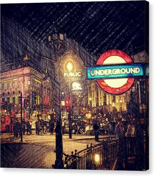 Humans Canvas Print - How London Looks Like At Night? May by Abdelrahman Alawwad