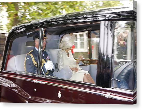 Hrh Prince Charles And Camilla Canvas Print