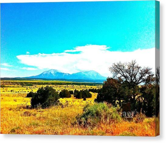 Spanish Peaks Canvas Print