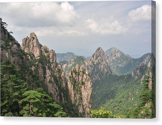 Huangshan Granite 1 Canvas Print