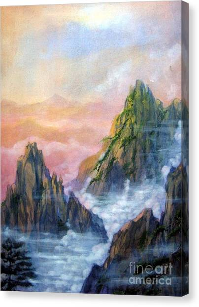 Huangshan Sunrise Canvas Print