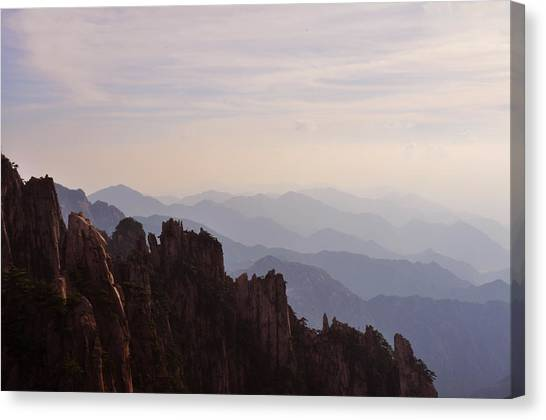 Huangshan Sunset Canvas Print