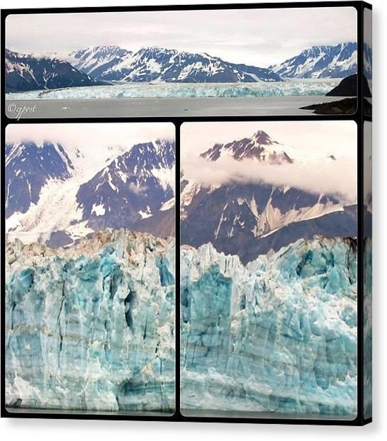 Glaciers Canvas Print - Hubbard Glacier In 3 Parts #alaska by Cynthia Post