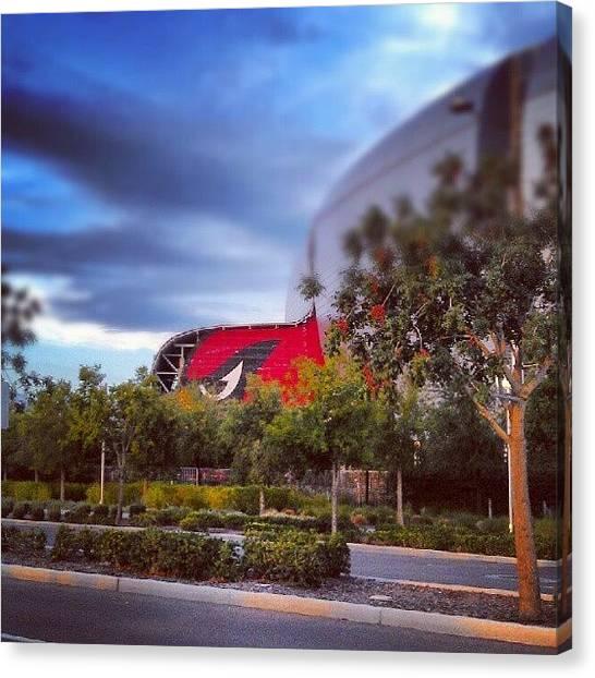 Arizona Cardinals Canvas Print - #hudson #football #stadium #cardinal by Dave Moore