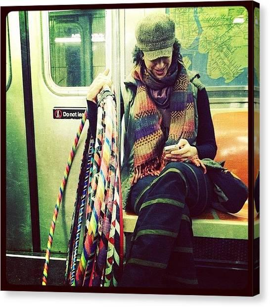 Subway Canvas Print - Hula Girl by Natasha Marco