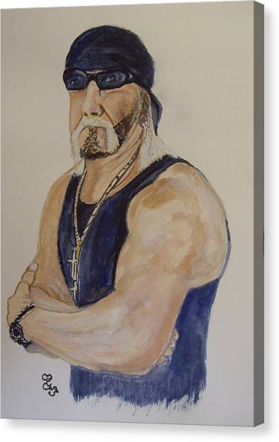 Hulk Hogan Canvas Print - Hulk Hogan by Carole Robins