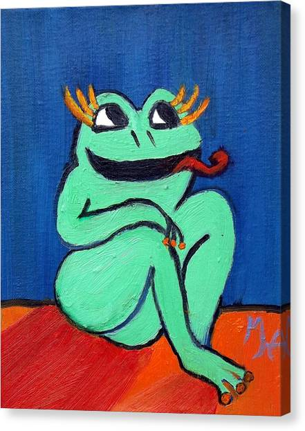 Hungry Female Frog Canvas Print