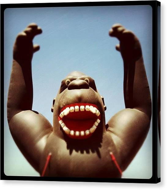 Gorillas Canvas Print - Hungry by Florian Divi