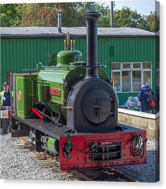 Steam Trains Canvas Print - Hunslet Quarry Loco jack Lane At by Dave Lee