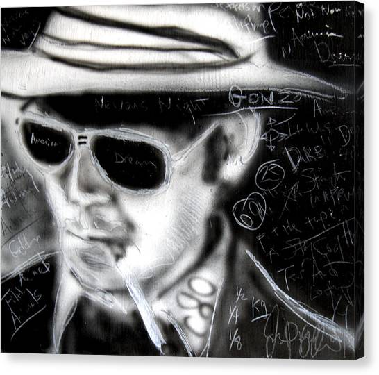 Hunter S Thompson American Dream  Canvas Print by Jon Baldwin  Art
