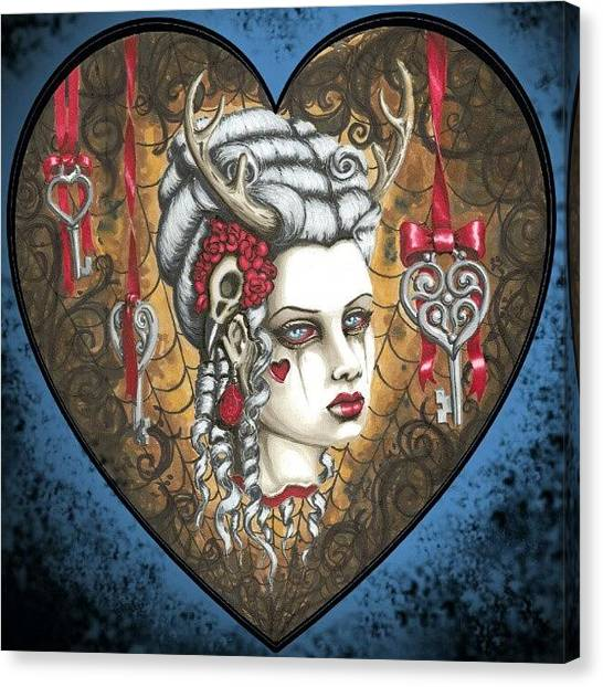 Horror Canvas Print - Hunter's Kiss by Shayne  Bohner