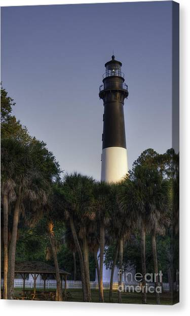 Hunting Island Light Canvas Print