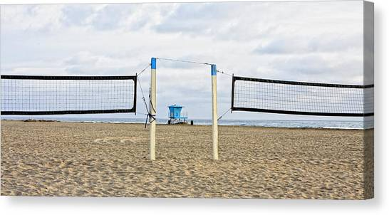 Volleyball Canvas Print - Huntington Beach Volley Ball by Rosanne Nitti