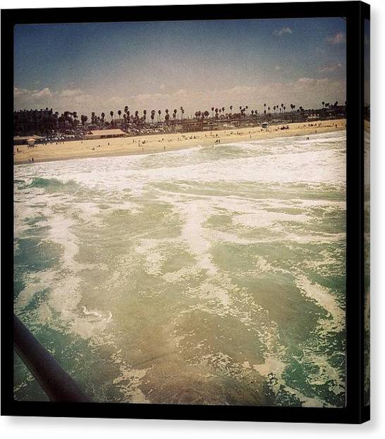 Ashes Canvas Print - #huntingtonbeach #hipstamatic by Ash Eliot