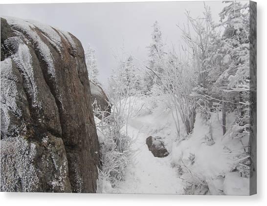 Hurricane Mt In Winter Canvas Print
