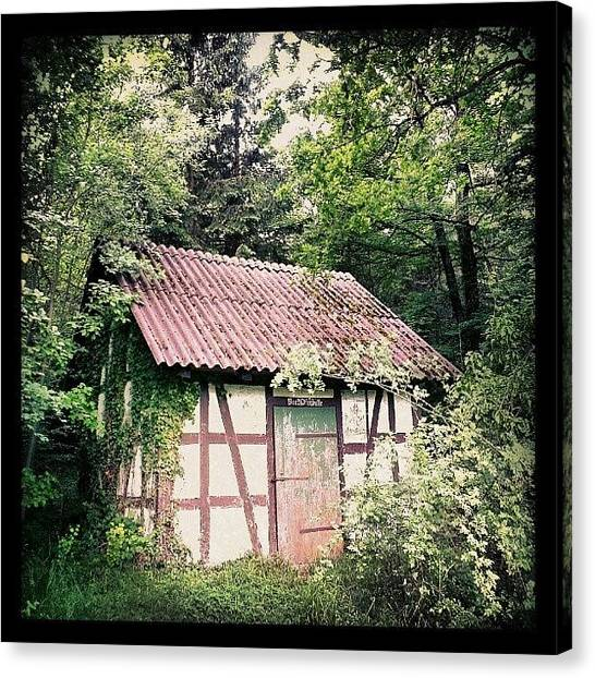 House Canvas Print - Hut In The Forest by Matthias Hauser