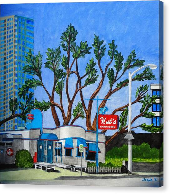Hut's Hamburgers Austin Texas. 2012 Canvas Print
