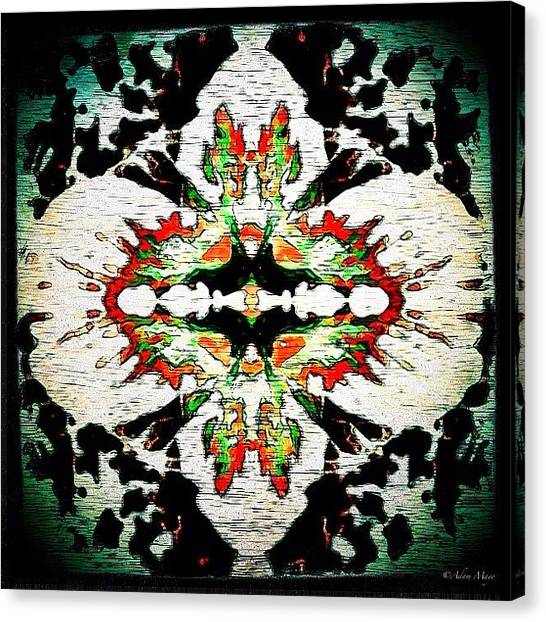 Iphone 4 Canvas Print - Hyacinth Reborn - Reshaped & Reimagined by Photography By Boopero