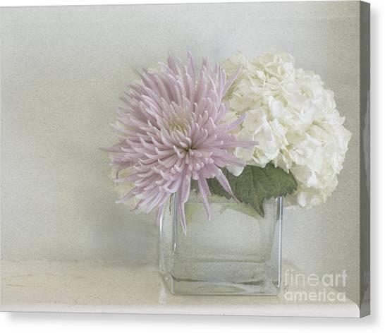 Hydrangea And Mum Canvas Print