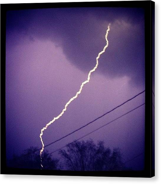 Lightning Canvas Print - Hyped On This One! by Caelan Mulvaney