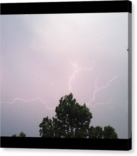 Thunderstorms Canvas Print - I Actually Got The Shot! #storm by Robert Garcia