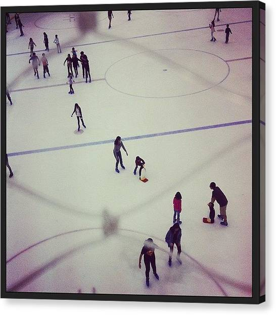 Ice Skating Canvas Print - I Also Want To Ice Skate In The Coming by Zachary Voo