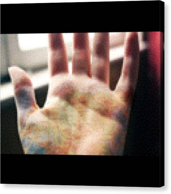 Kiss Canvas Print - I Am Holding The World In My Hands by Kiss Inthefog
