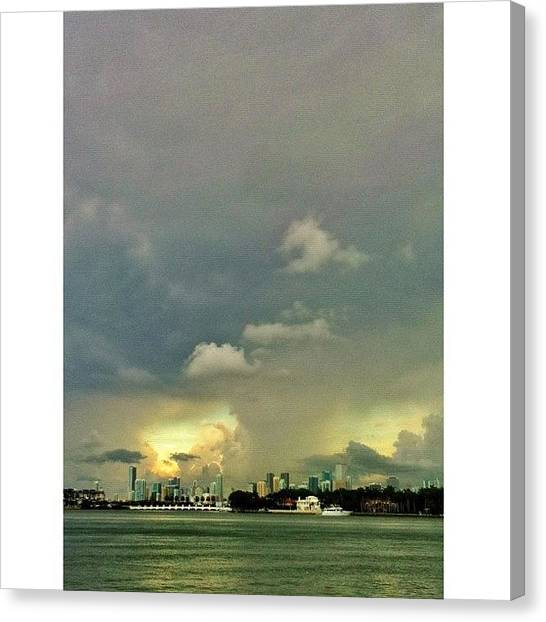 Miami Skyline Canvas Print - I Am Lingering Like A Cigarette by Maria Lankina