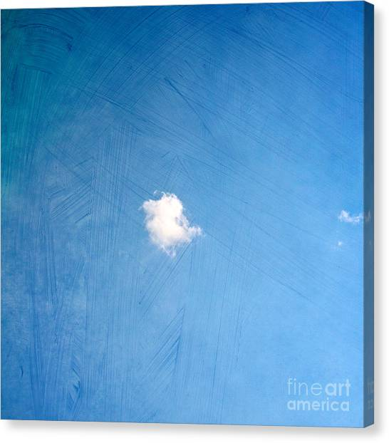 Cloud Canvas Print - I Am One by Violet Gray