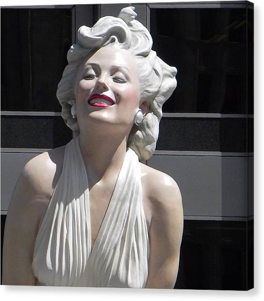 Marilyn Monroe Canvas Print - I Am Ready For My Close Up  by Travel Designed