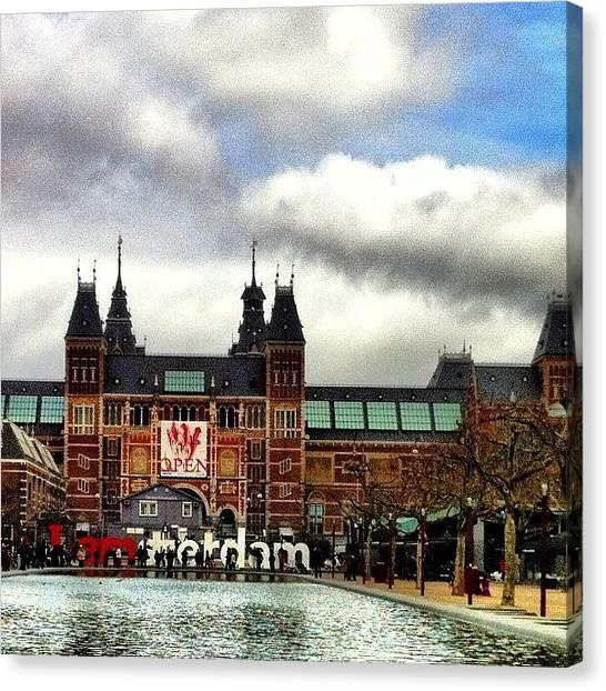 Rijksmuseum Canvas Print - I Amsterdam by Adam Davies