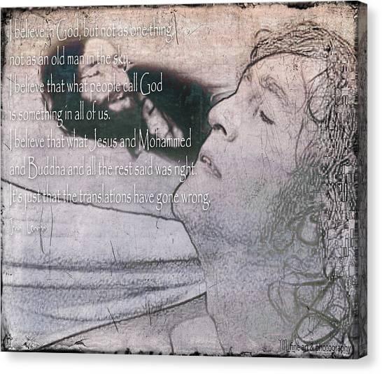 I Believe _ John Lennon Canvas Print