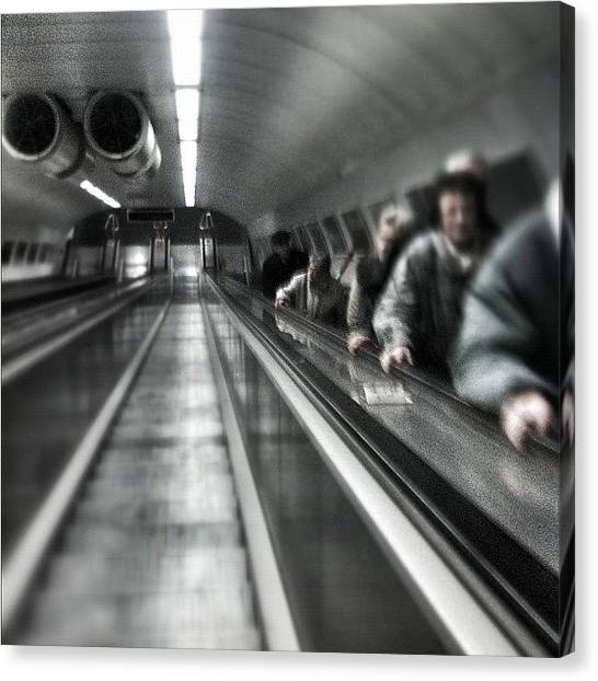London Tube Canvas Print - I Believe I Can See The Future Cause I by Marianna Tamas