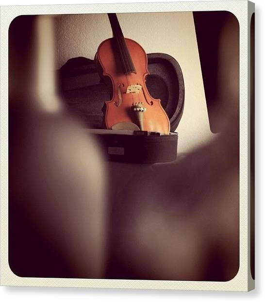 Violins Canvas Print - I Can Hear The Sound Violins by Aileen Editha
