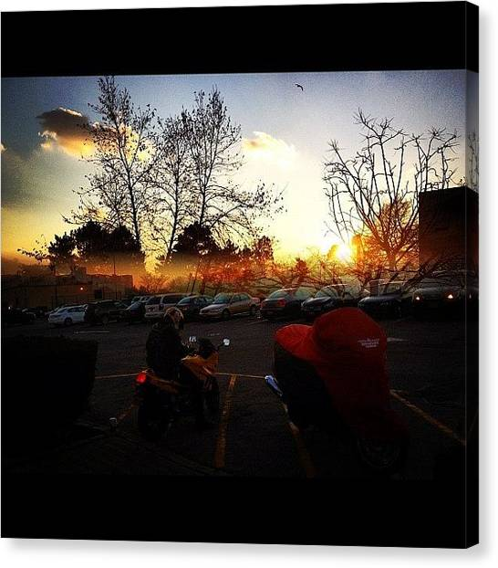 Biker Canvas Print - I Combined Two Shots Using #splitcam by Anthony McNally
