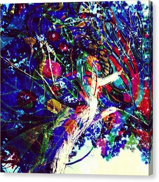 Spiritual Canvas Print - I Dream Of Electric Trees by Lisa Catherwood