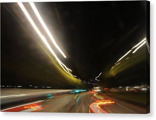 I Dreamed Of Driving At Night Canvas Print by George Crawford